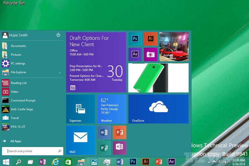 Windows 10-écran